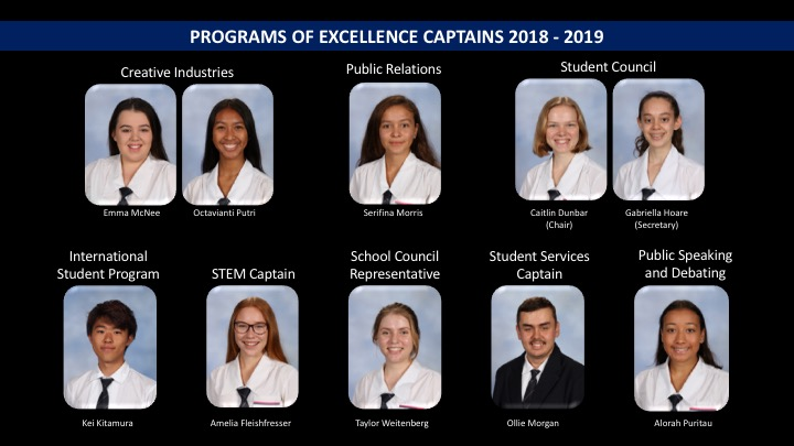 Excellence Captains 2018-2019